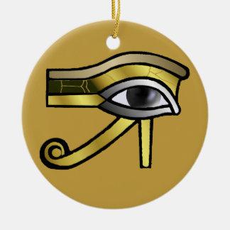 Horusの装飾の金目 セラミックオーナメント