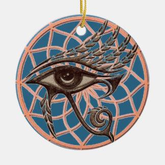 Horusの青の夢のキャッチャーの目 セラミックオーナメント
