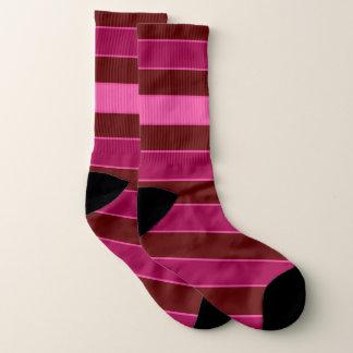 Horz。 ラインバーのピンクのあずき色によって印刷されるソックス ソックス