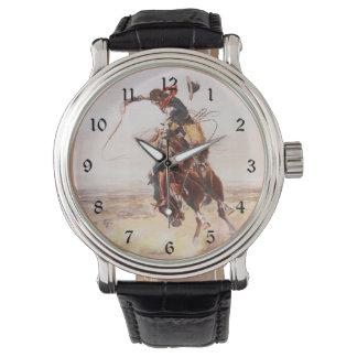 Hoss悪いチャールズラッセルのファインアート 腕時計