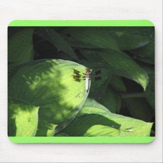 HostAの葉のトンボ マウスパッド