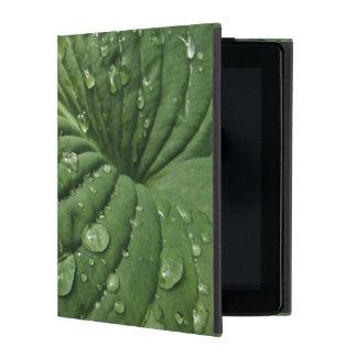 HostAの葉のPowisのiPadのフォリオの箱の雨滴 iPad ケース