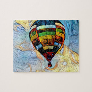 Hot Air Balloon Painted Puzzle ジグソーパズル
