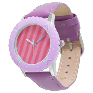 Hot Pink Stripe 腕時計