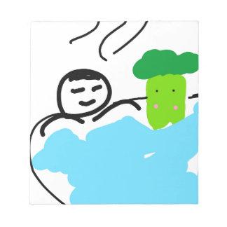 Hot Springsのかわいいブロッコリー ノートパッド