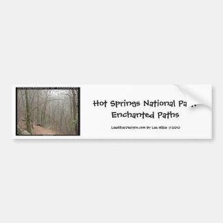 Hot Springsの国立公園、AR -魅了された道 バンパーステッカー