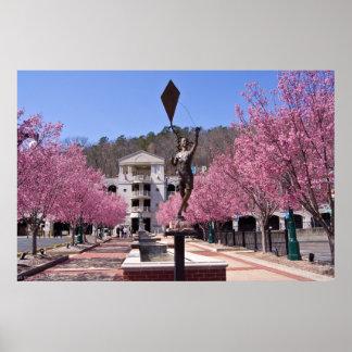 Hot Springsアーカンソーポスターの桜 ポスター