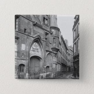 Hotel de Sens、遅く- 19 Th世紀早 5.1cm 正方形バッジ