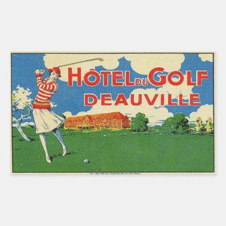 Hotel du Golf (ドーヴィルフランス) 長方形シール