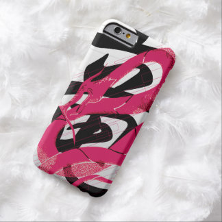 Hotpinkのドラゴンの日本のなドラゴンの白の背景 Barely There iPhone 6 ケース