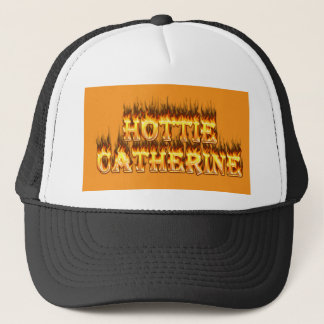Hottieキャサリンの火および炎 キャップ
