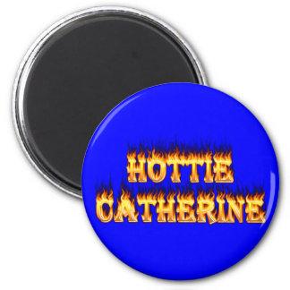 Hottieキャサリンの火および炎 マグネット