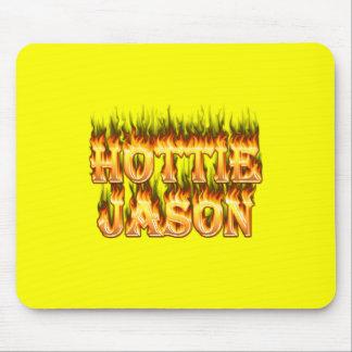 Hottieジェイソンの火および炎 マウスパッド