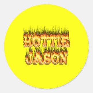 Hottieジェイソンの火および炎 ラウンドシール