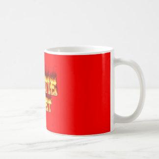 Hottieジャネットの火および炎 コーヒーマグカップ