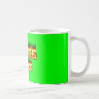 Hottieジョイスの火および炎 コーヒーマグカップ