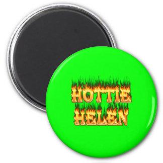Hottieヘレンの火および炎 マグネット