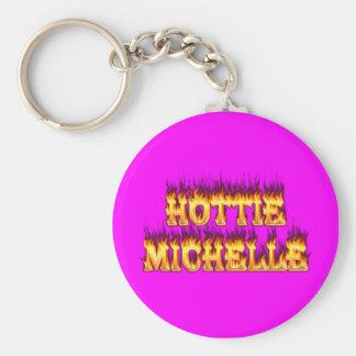 Hottieミシェールの火および炎 キーホルダー
