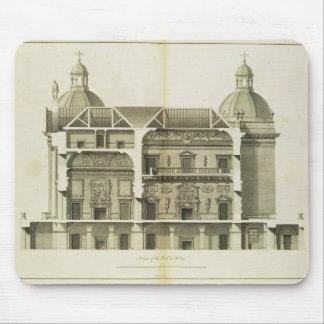 Houghtonホール: ホールおよびサロンの横断面 マウスパッド