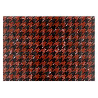 HOUNDSTOOTH1黒い大理石及び赤い大理石 カッティングボード