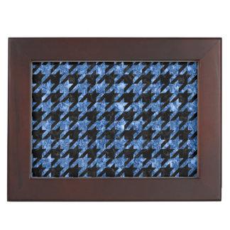 HOUNDSTOOTH1黒い大理石及び青い大理石 ジュエリーボックス