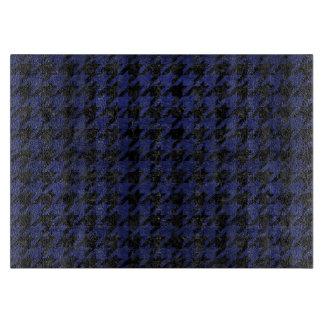 HOUNDSTOOTH1黒い大理石及び青い革 カッティングボード