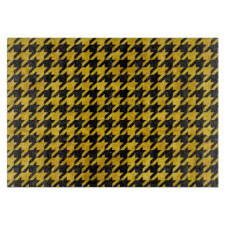 HOUNDSTOOTH1黒い大理石及び黄色い大理石 カッティングボード