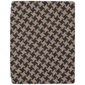 HOUNDSTOOTH2黒い大理石及びブラウンによって着色される鉛筆 iPadスマートカバー