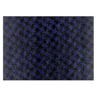HOUNDSTOOTH2黒い大理石及び青い革 カッティングボード