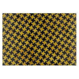 HOUNDSTOOTH2黒い大理石及び黄色い大理石 カッティングボード