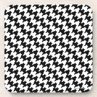 Houndstooth Pattern Plastic Coaster Set コースター