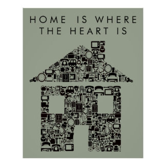 House Warming Home Quote Poster Print ポスター