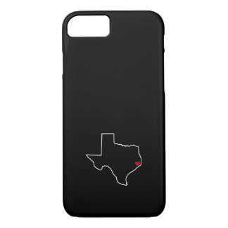 Houston Harvey Relief Texas Outline Red Heart iPhone 8/7ケース