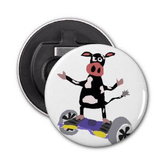 Hoverboardの芸術のおもしろいな牛 栓抜き
