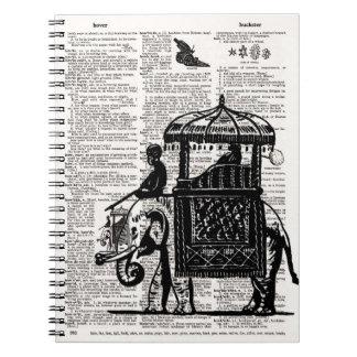 Howdah辞書の芸術の象 ノートブック