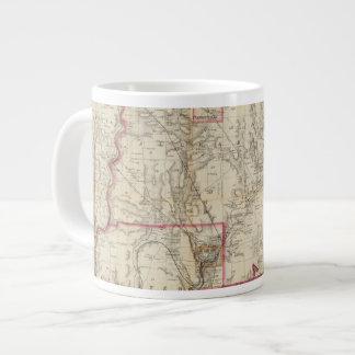 Howeのペンシルバニアの油地区の地図 ジャンボコーヒーマグカップ
