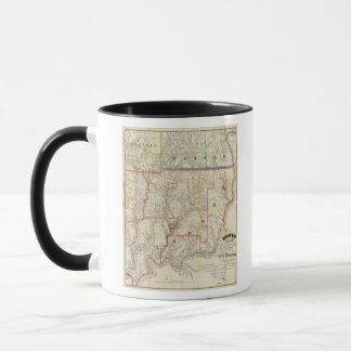 Howeのペンシルバニアの油地区の地図 マグカップ