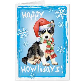Howlidayの幸せなハスキー カード