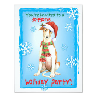 Howlidayの幸せなボルゾイ カード