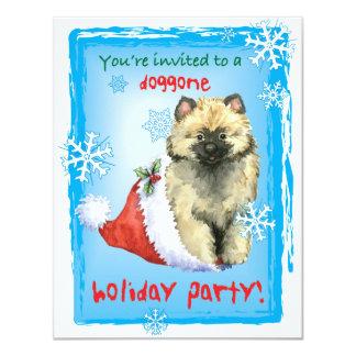 Howlidayの幸せなKeeshond カード