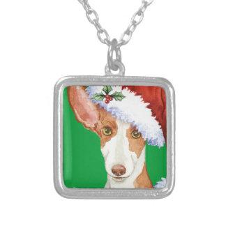Howliday幸せなIbizanの猟犬 シルバープレートネックレス
