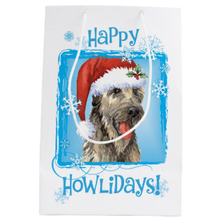 Howlidaysの幸せなアイリッシュ・ウルフハウンド ミディアムペーパーバッグ