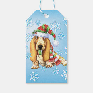 Howlidaysの幸せなバセット犬 ギフトタグ