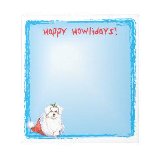 Howlidaysの幸せなマルチーズ ノートパッド