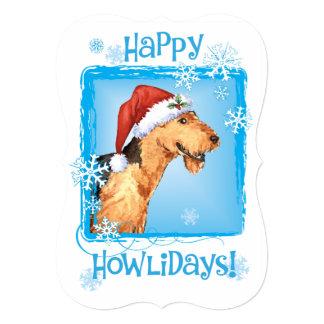 Howlidaysの幸せなAiredale カード