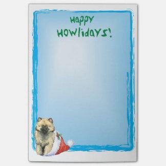 Howlidaysの幸せなKeeshond ポストイット