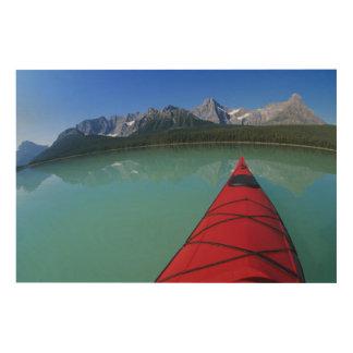 Howseのピークの下のwaterfowl湖でカヤックを漕ぐこと ウッドウォールアート