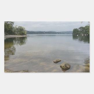 Howtown、CumbriaからのUllswater湖 長方形シール