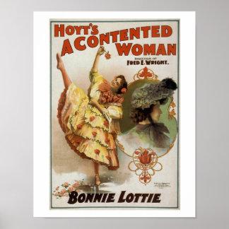 Hoytの満足そうな女性のヴィンテージの劇場ポスター ポスター