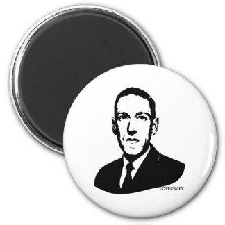 HP Lovecraftのポートレートの磁石 マグネット